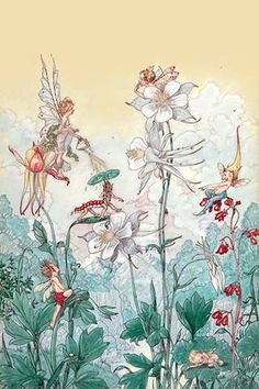 Illustration of a fairy for a children's book done by Harold Gaze (American 1884…