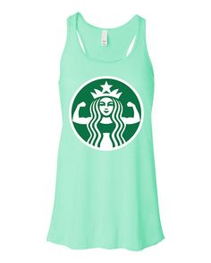 STARBUFF PARODY #Workout #Tank Top Mint by #NobullWomanApparel, for only $24.99! Click here to buy https://www.etsy.com/listing/212730636/starbuff-parody-workout-tank-top-mint?ref=shop_home_active_13