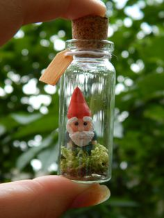 Gnome in a Bottle this would make a cute necklace