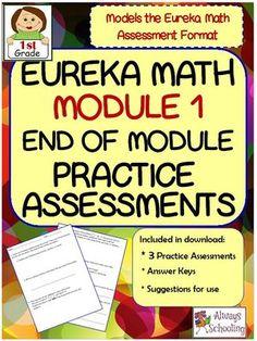 !st+Grade+Eureka+Math+Module+1+End+of+Unit+Assessment+Practice+Tests-Modeled+After+Eureka+Format+from+Always+Schooling+on+TeachersNotebook.com+-++(14+pages)++-+!st+Grade+Eureka+Math+Module+1+End+of+Unit+Assessment+Practice+Tests-Modeled+After+Eureka+Format 3+Practice+Assessments+with+answer+pages.
