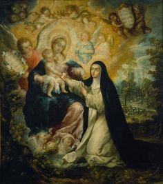 Mystic Betrothal Saint Rose Lima Nicolas Correa Art Print (Poster/Photo sizes)