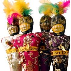 The Voodoo doll is a form of gris-gris, and an example of sympathetic magic. Contrary to popular belief, Voodoo dolls are usually used to bless instead of curse. The purpose of sticking pins in the doll is not to cause pain in the person the doll is associated with, but rather to pin a picture of a person or a name to the doll, which traditionally represents a spirit. The gris-gris is then performed from one of four categories: love; power and domination; luck and finance; and uncrossing.