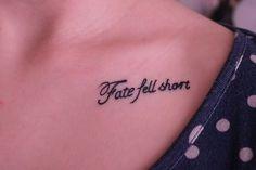 i love clavicle tattoos