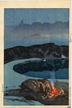 Camping at Wahiba (Washibadake), 1926. Castle Fine Arts
