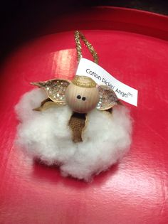 Cotton Pickin' Angel Ornaments. Cotton boll by KallalilyCreations, $9.99