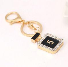 Noir Porte-clés Bijoux de Sac Charm - Chanel No 5 Parfum