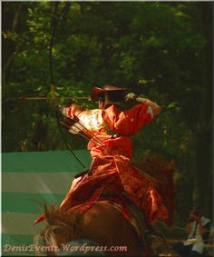 Yabusame Shimogamo Shrine Kyoto Archery Cavalier in action