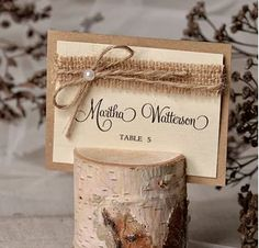 Place cards will be a wonderful welcome to your wedding guests which easily allow them to find their places. Wedding Places, Wedding Place Cards, Wedding Guest Book, Wedding Table, Rustic Wedding, Rustic Place Card Holders, Rustic Place Cards, Diy Wedding Favors, Wedding Decorations