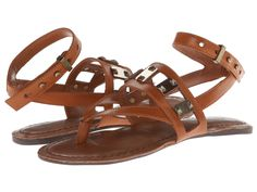 Jessica Simpson - Raggertie  Price: $61  Make a splash with these sweet sandals! Thong-style construction with buckle closure. Strapped leather upper with hardware accents. Man-made lining. Lightly cushioned man-made footbed. Man-made sole. Imported.