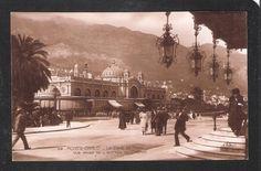 RP France MONTE CARLO Monaco Le Cafe de Paris vue prise de l'entree du Casino Casino Monagasque Antique Vintage Postcard.