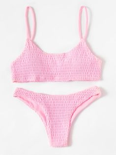 Thats Your Best Shirred Bikini Set. This shirred bikini set is perfect for the summer! Summer Bathing Suits, Cute Bathing Suits, Summer Suits, Cute Swimsuits, Women Swimsuits, Cute Bikinis, Bikinis Tumblr, Pink Swimsuit, Pink Bikini