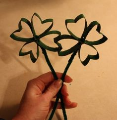 Shamrock Made Out of Toilet Paper Rolls