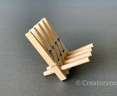 How To Make An Adirondack Chair Phone Stand - Iphone Holder - Ideas of Iphone Holder - How To Make An Adirondack Chair Phone Stand Creatorvox Handmade Crafts, Diy And Crafts, Crafts For Kids, Popsicle Stick Crafts, Craft Stick Crafts, Diy Wood Projects, Wood Crafts, Diy Cell Phone Stand, Wood Phone Stand