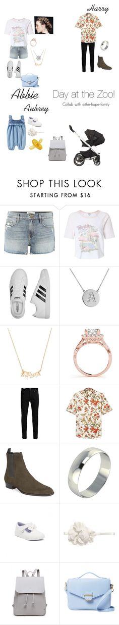 """""""Day at the Zoo"""" by the-stylesfamrp ❤ liked on Polyvore featuring Frame, Miss Selfridge, adidas, Jennifer Meyer Jewelry, Kate Spade, Jack & Jones, Yves Saint Laurent, Kickers and Cynthia Rowley"""