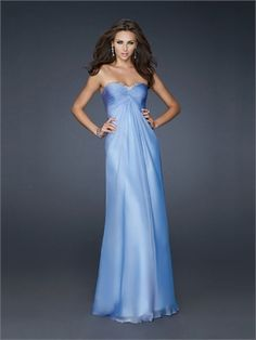 A-line Strapless Sweetheart Neckline with Beadings Chiffon Floor Length Prom Dress PD11076 www.dresseshouse.co.uk $116.0000