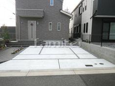 施工例駐車場ガレージ 土間コンクリート バラス砂利目地(現場番号:00013241)