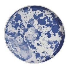 Blue Water Colour Ceramic Plate - Bonnie and Neil - $65.00 - domino.com