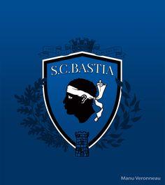 SCB Sporting club di Bastia - Logo - Mars 2018 Corsica, Mars 2018, Sports Clubs, Porsche Logo, Football, Logos, Movie Posters, Desktop Screensavers, Diy Crafts