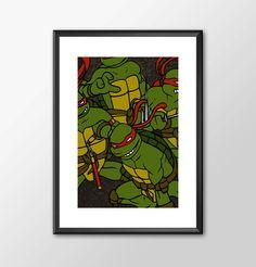 Ninja Turtles Original Eastman & Laird Version - Digitally Painted Tribute 2 Versions... by ShamanAlternative on Etsy