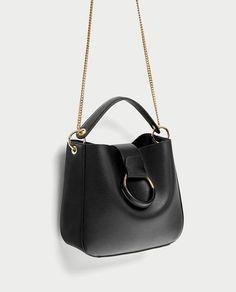 Image 1 of MEDIUM BUCKET BAG WITH HOOP from Zara