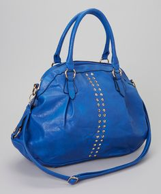Take a look at this Yoki Cobalt Studded Satchel on zulily today!
