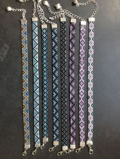 bead weaving patterns earrings Best Picture For Beading photography For Your Taste You are looking for something, and it is going to tell you exactly what you are looking for, and you di Loom Bracelet Patterns, Seed Bead Patterns, Bead Loom Bracelets, Beaded Jewelry Patterns, Friendship Bracelet Patterns, Beading Patterns, Bracelet Designs, Crochet Beaded Bracelets, Peyote Patterns