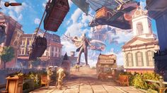 The floating city of Columbia from BioShock Infinite | 36 Beautiful Landscapes That Prove That Video Games Are Art