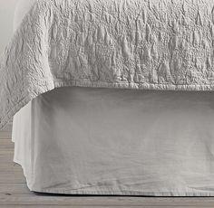 Garment-Dyed Sateen Bed Skirt (Mist)