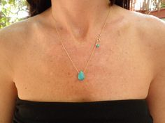 Turquoise Necklace Mothers Day Gift Birthstone by AnnalisJewelry
