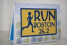 Boston Marathon Race Bib Scrapbook  by RunLoveScrapbooks