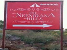 Rs. 12 Lac Residential Land for Sale  in Ambient The Neemrana Hills, NH-8, Neemrana