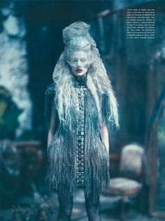 The Grand CoutureVogue Italia September 2010Kristen McMenamy by Paolo RoversiJean Paul Gaultier | Fall 2010 Couture