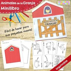 Open the gate to find out who's on the farm with this fun, easy to construct minibook for preschoolers. Great to practise farm animal vocabulary and animal noises! Farm Animal Crafts, Farm Animals, Fun Educational Games, Preschool Books, Preschool Farm, Animal Worksheets, Farm Activities, Printable Animals, Farm Theme