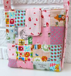Close up patchwork bag by Very Berry Handmade, via Flickr