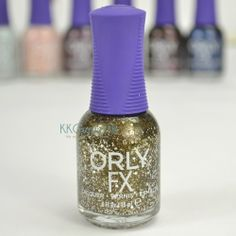 Orly Galaxy FX Color Collection- Star Trooper Base:Brown Jelly With Bronze Shimmer Glitter:Gold Hex, White Hex