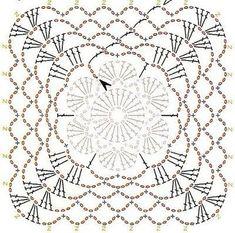 Transcendent Crochet a Solid Granny Square Ideas. Inconceivable Crochet a Solid Granny Square Ideas. Crochet Motif Patterns, Crochet Blocks, Granny Square Crochet Pattern, Crochet Borders, Crochet Diagram, Crochet Chart, Crochet Squares, Crochet Granny, Diy Crochet