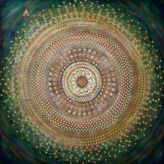 Print σε ασημένιο καμβά με τρουκς 90x90. Από την Alphab2b.gr Circle Painting, Art, Decoration, Products, Art Background, Decor, Kunst, Decorations, Performing Arts