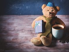 Father's day concept with teddy bear by Life Morning Photography on @creativemarket