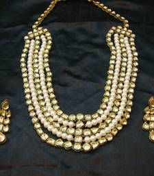 Buy designer bridal set with earrings necklace-set online