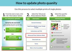 How to update photo quantity