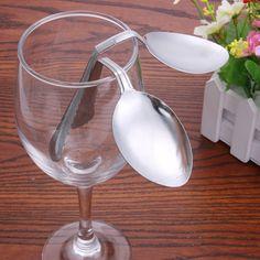 New Mind Bending Spoon Close Up Magic Trick Prop Bending Spoon Performance Prop Gimmick Close-Up Magics Props Spoon Bending