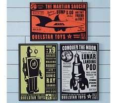 Kids' Posters, Prints & Art: Kids Outer Space Wall Art