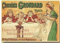 Chocolats Grondard  Paris  Chocolat Express  Tablettes inséparables  129 Bould…