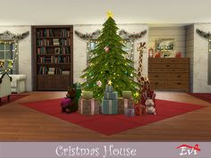 evi's Sims 4 Downloads - 'christmas' Ts4 Cc, Sims 4, Christmas Tree, Content, Holiday Decor, Artist, Home Decor, Teal Christmas Tree, Decoration Home