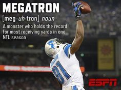 Calvin Johnson best player the Lions have had since Barry Sanders!