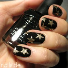Gold and Black Nails on Behance