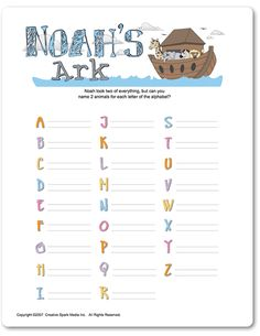 Printable Noah's Ark - Funsational.com …