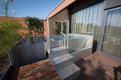 Stainless steel spa Imaginox in the most luxurious wellness in Czech Republic Mountain Resort, Czech Republic, Spa, Deck, Wellness, Stainless Steel, Luxury, Outdoor Decor, Room