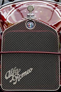 1931 Alfa-Romeo Grille Emblem Photograph by Jill Reger