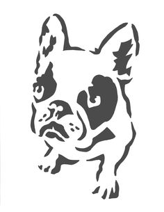 Deidre Wicks: Boston Terrier Stencil - Free Stencil Pattern